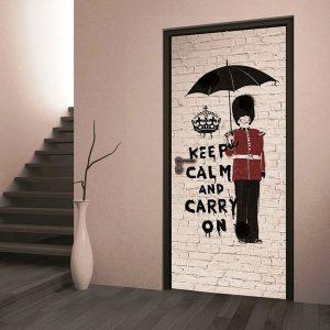 Дверь под кирпич