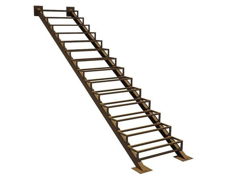 двойная косоурная лестница