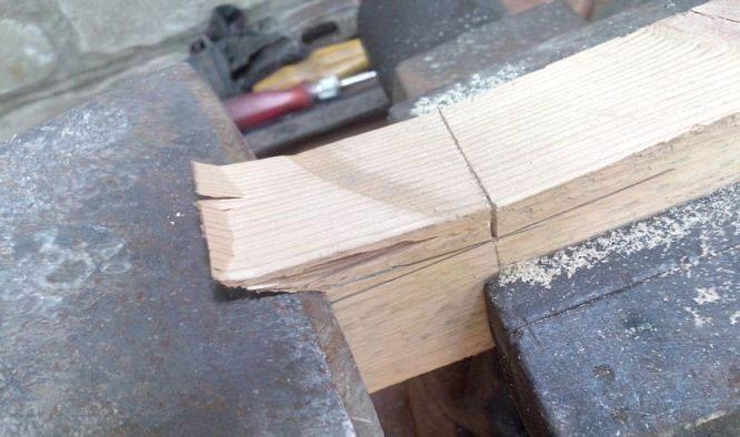 Снятие слоя древесины