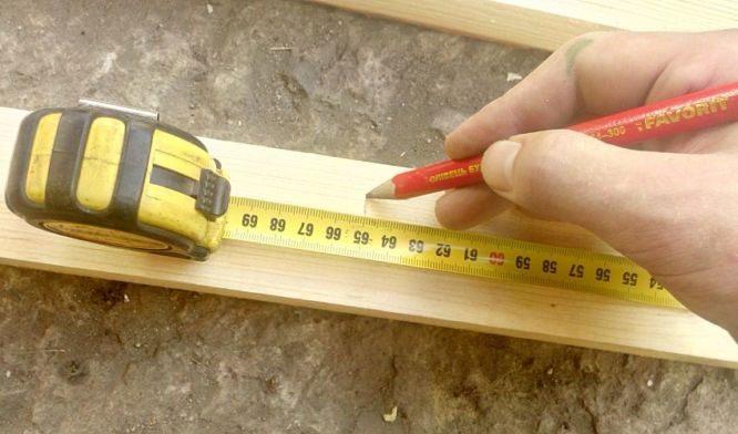 Измерение лестницы
