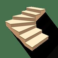 Лестница с забежными ступенями в поворотом на 90