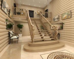 Лестница на трех косоурах