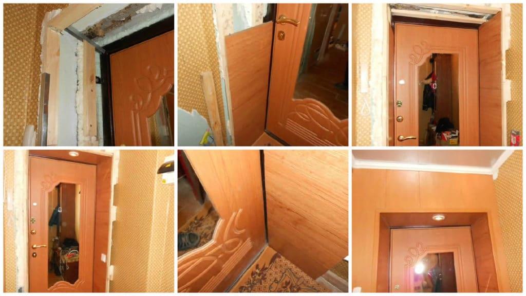 Монтаж панелей МДФ на дверной проем