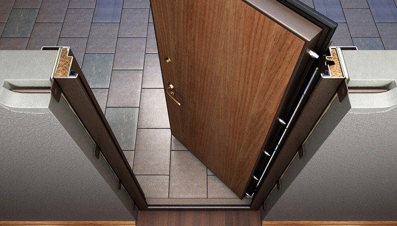 Как самому поставить железную дверь в деревянном доме