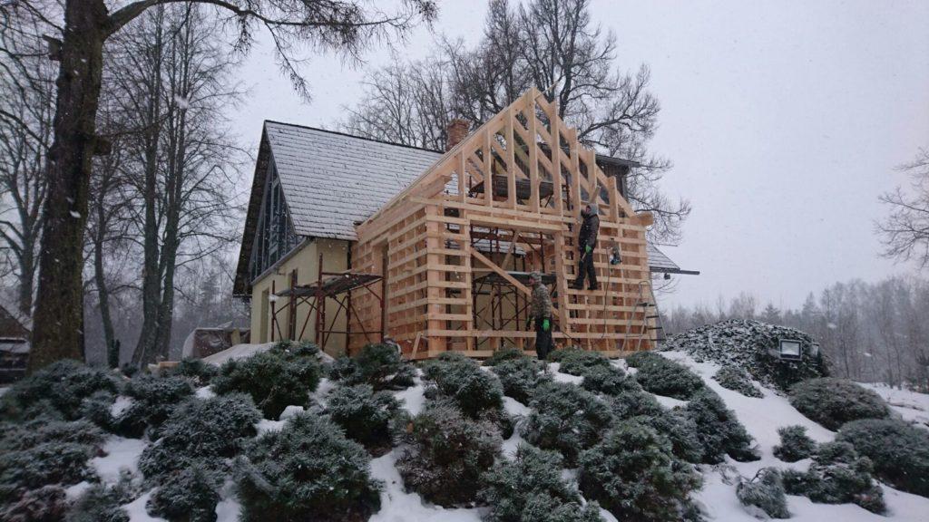 Финский дом в процессе строительства