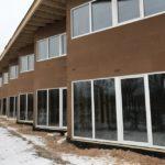 Фасад, утепленный при помощи древесно-волокнистых плит