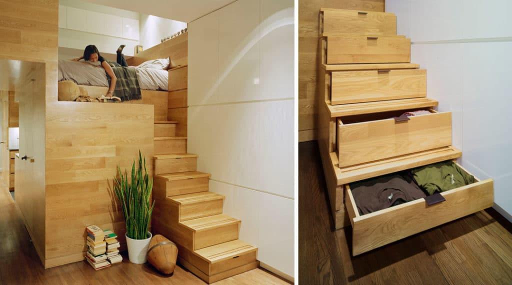 Ящики в ступенях