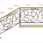 чертеж кованой лестницы
