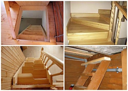 деревянные лестницы в подвал