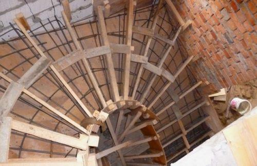 опалубка для винтовой лестницы
