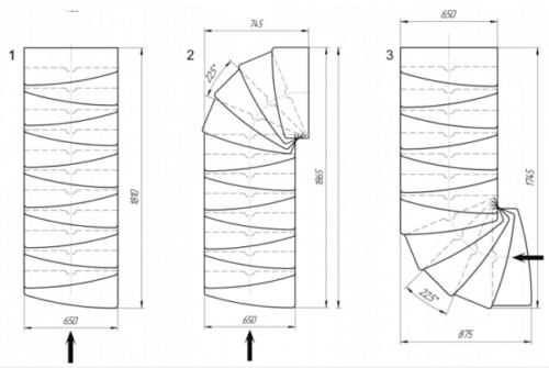 вариант конфигурации лестницы