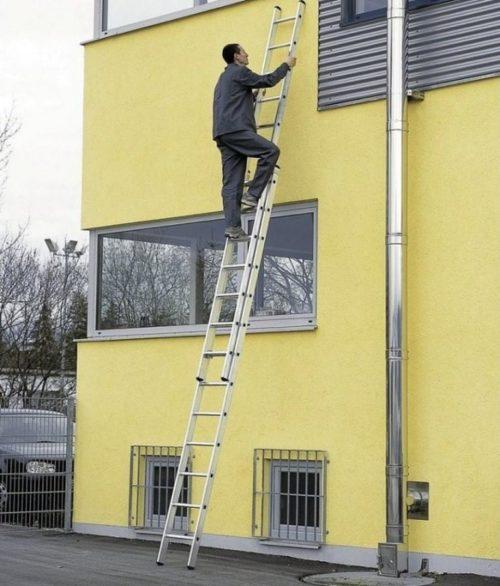 приставная алюминиевая лестница 6 местров