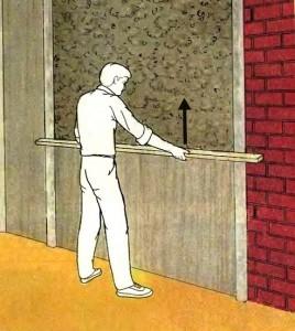 выравнивание стены штукатуркой схема