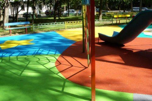 резиновая краска для детской площадки