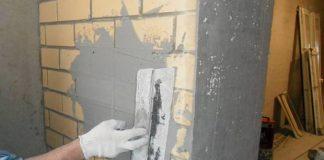 штукатурка стен из кирпича