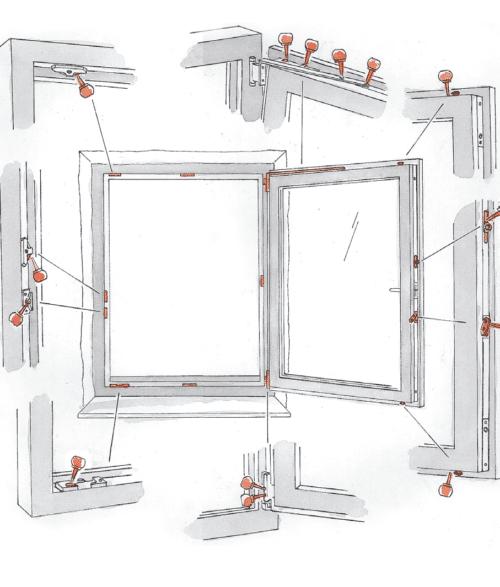 смазка элементов окна