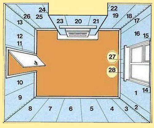 схема оклейки помещения