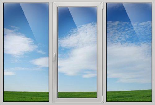 три створки окна