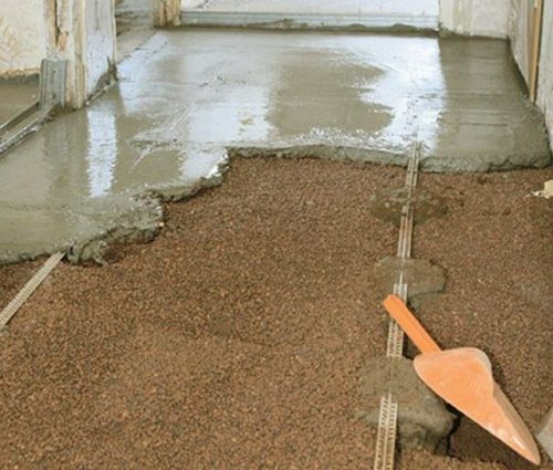 мокрая стяжка с керамзитом