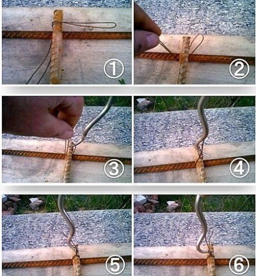 схема вязки с помощью крючка