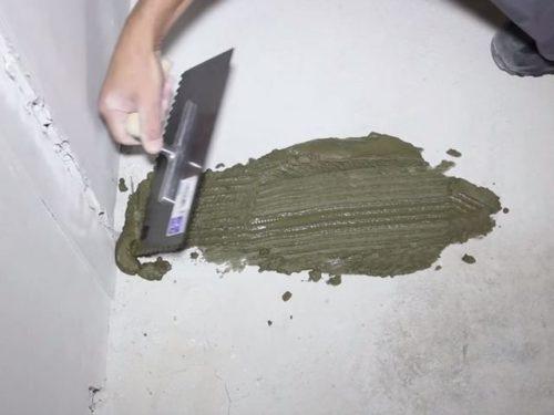 заделка штробы с термодатчиком