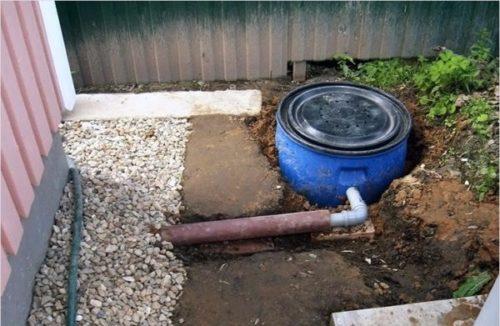 подключение бочки к канализации