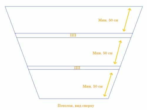 схема монтажа потолочного профиля