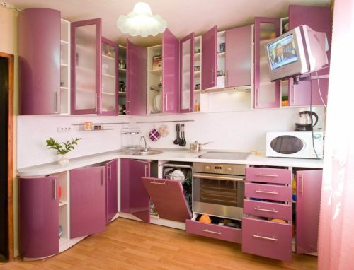 фиолетовый с розовым
