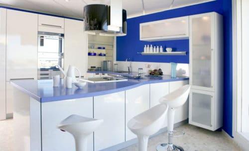 синий с белым