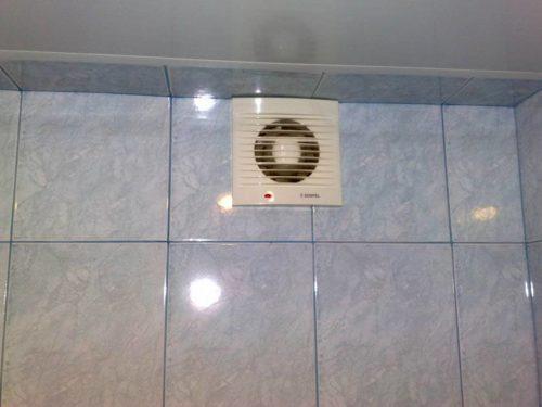 клапан с вентилятором в ванной
