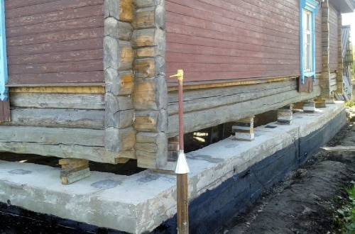 усиление фундамента деревянного дома