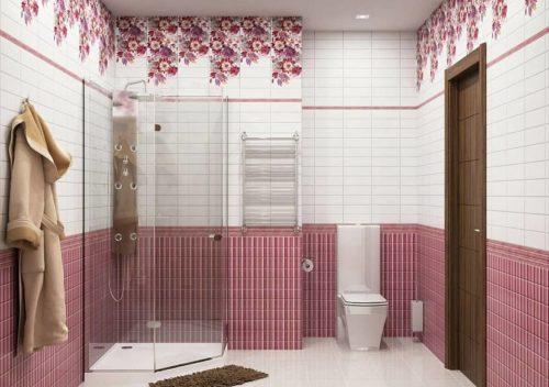 дизайн ванной их пвх