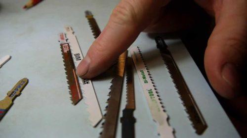 Разновидности пилок для лобзиков по геометрии режущей кромки