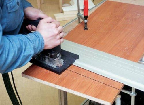 Как сделать ровный пропил электролобзиком
