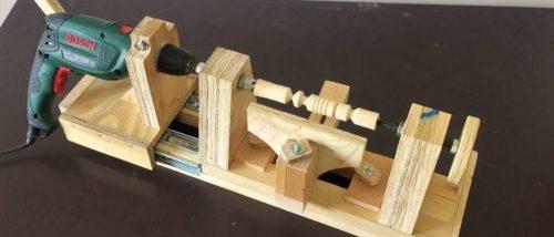 Подробная инструкция по изготовлению токарного станка по дереву из дрели
