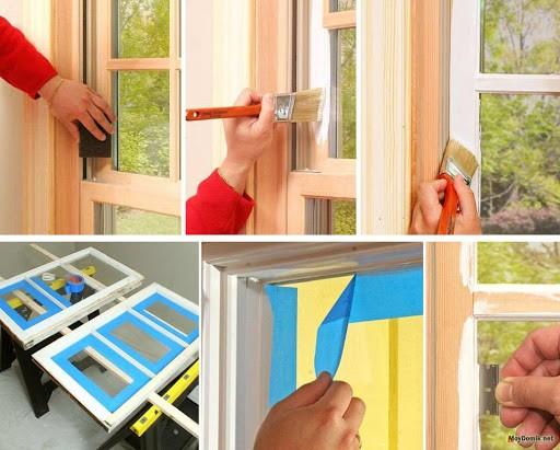 Покраска деревянных окон: необходимые материалы и пошаговый процесс