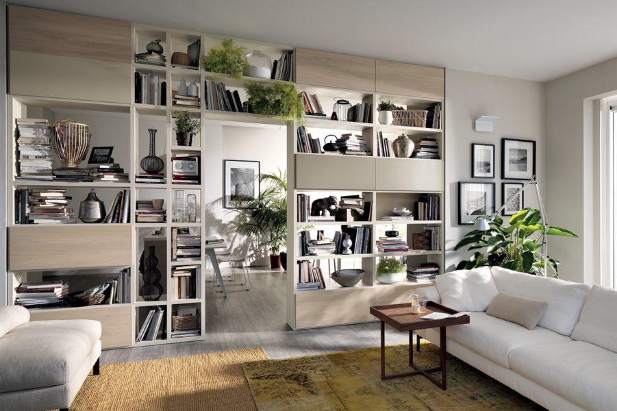 Открытые полки в мебели