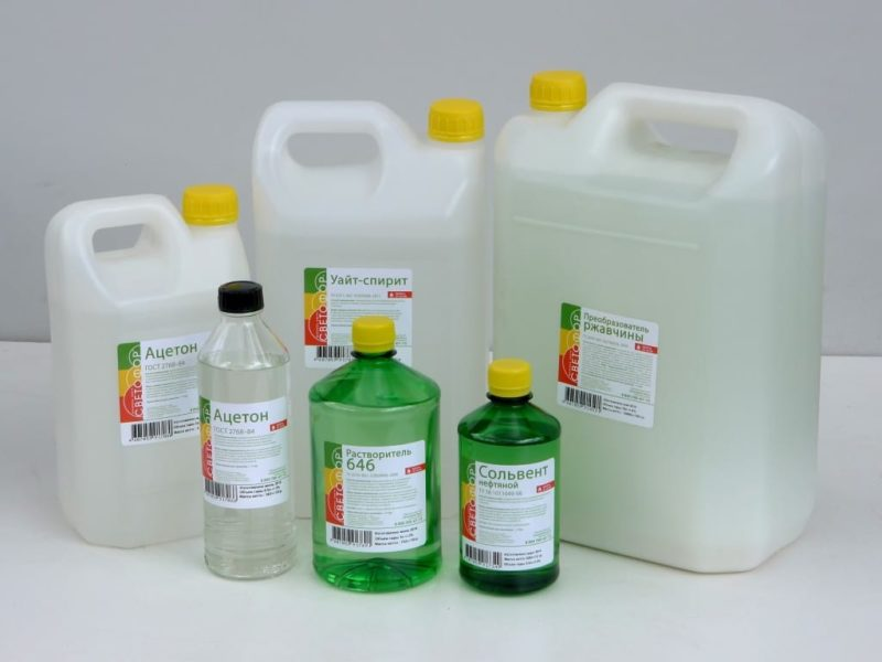 Жидкости с ацетоном