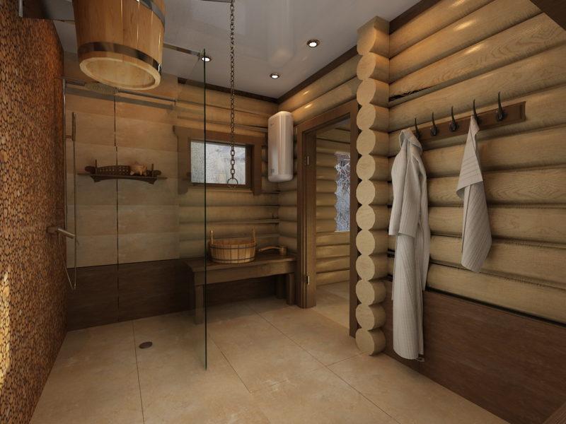 Помывочное помещение бани