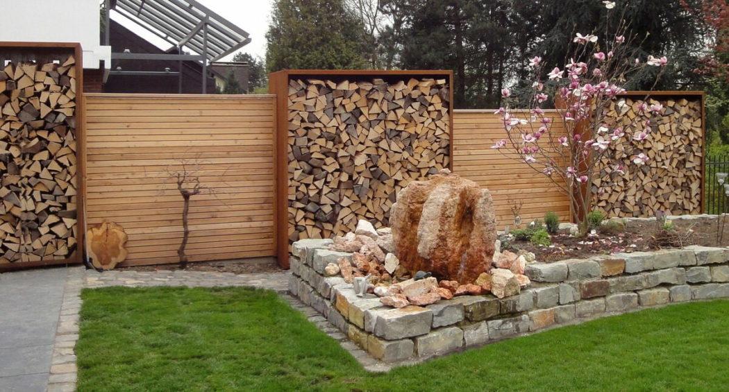 Забор-поленница